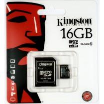 Paměťová karta Kingston 16GB Micro SDHC, Class 10