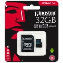 obrázek Paměťová karta Kingston Canvas Go! 32GB UHS-I U3 + SD adaptér