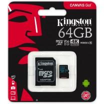 obrázek Paměťová karta Kingston Canvas Go! 64GB UHS-I U3 + SD adaptér