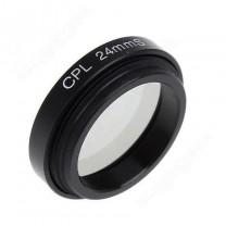 obrázek VÝPRODEJ: CPL filtr 24mm pro kameru do auta Topcam Mini 0807 C7+
