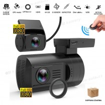 Autokamera Topcam DUAL Mini G+, karta 32GB, NEOPRENOVÉ POUZDRO ZDARMA