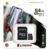 obrázek Paměťová karta Kingston Canvas Select 64GB class 10 + SD adaptér