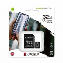 obrázek Paměťová karta Kingston Canvas Select Plus 32GB, class 10, 100MB/s UHS-I + SD adaptér