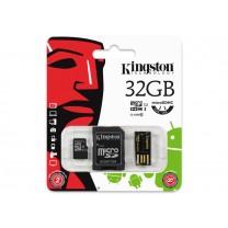 obrázek Paměťová karta Kingston Mobility Kit 32GB class 10 + USB čtečka + SD adaptér