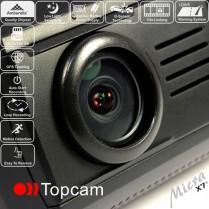 Autokamera Topcam MICRA X7+...o třídu výš! karta 32GB, NEOPRENOVÉ POUZDRO ZDARMA