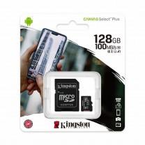 obrázek Paměťová karta Kingston Canvas Select Plus 128GB, class 10, 100MB/s UHS-I + SD adaptér