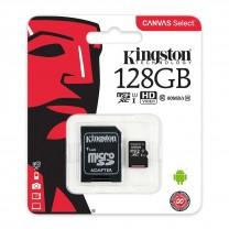 obrázek Paměťová karta Kingston Canvas Select 128GB class 10 + SD adaptér