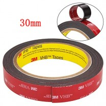 obrázek 30 mm - ROLE, oboustranně lepící 3M páska (šíře 30 mm, délka 3 m, tloušťka 0,64 mm)