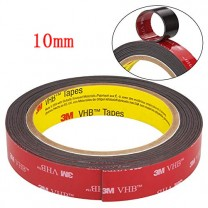 obrázek 10 mm - ROLE, oboustranně lepící 3M páska (šíře 10 mm, délka 3 m, tloušťka 0,64 mm)