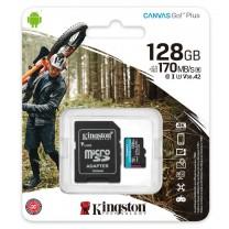 obrázek Paměťová karta Kingston Canvas Go! Plus MicroSDXC 128GB UHS-I U3 (170R/90W) + SD adaptér